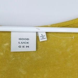 good luck gem Tops - 🆕 NWOT Good Luck Gem criss cross top